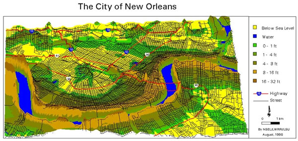 Photo: New Orleans Below Sea Level