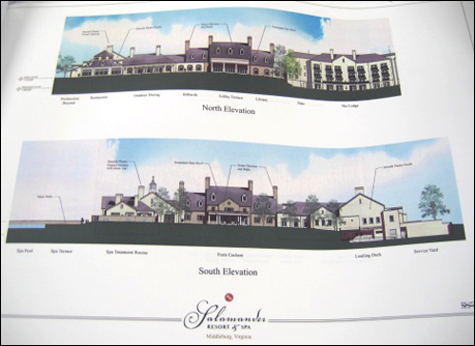 Rendering of Salamader Resort, Middleburg, VA
