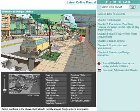 Image: Seattle's Web Interface