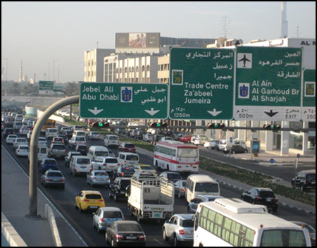 Traffic in Dubai