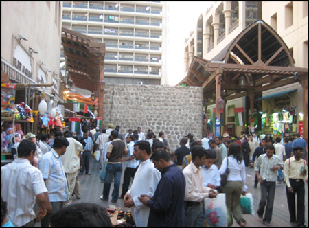 Photo: Souks in Bur Dubai