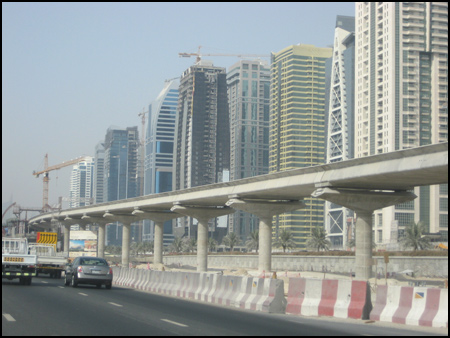 Metro Line Along Sheikh Zayed Road, Dubai