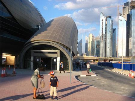 Image: Metro station serving Burj Khalifa in Dubai