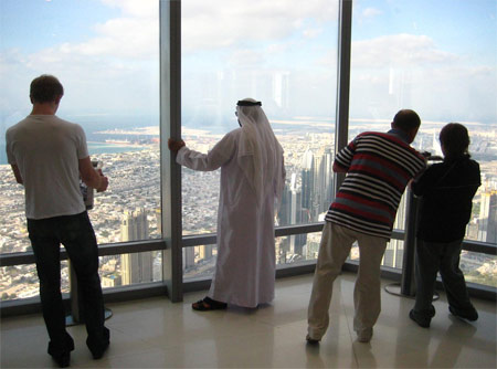 View from the 124th floor of Burj Khalifa