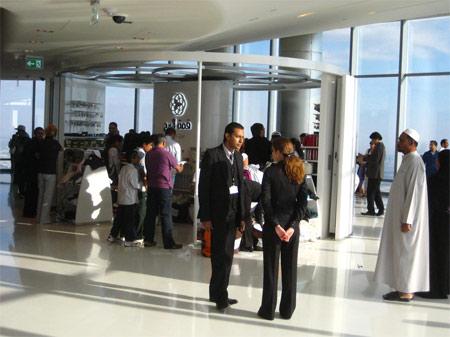 Image: Gift shop on the 124th floor of Burj Khalifa