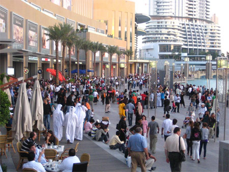 Crowds outside the Ground Floor entrance at Dubai Mall