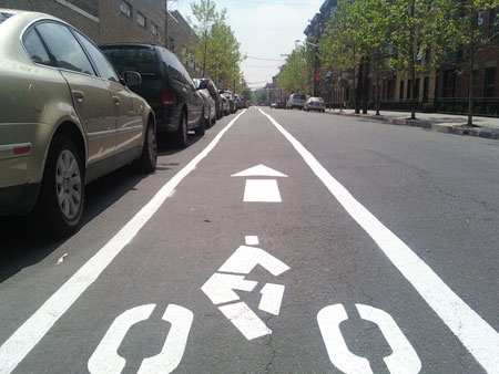 Image: Bike lanes in Hoboken