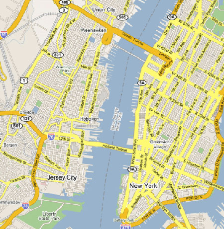Image: Map of Hoboken region