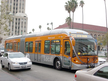 Photo: The 710 BRT in downtown Los Angeles.
