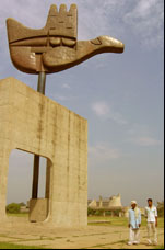 Photo: Chandigarh's Open Hand sculpture.