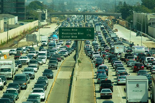 Los Angeles freeway traffic