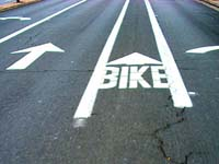 Photo: a bike lane in Seattle