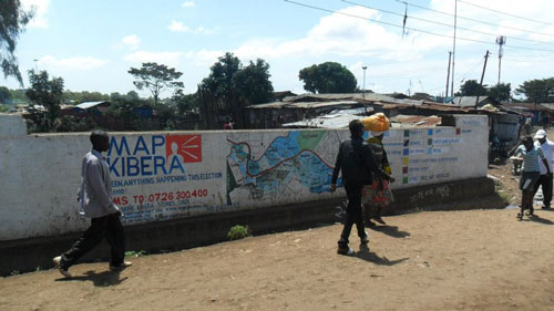 wall painting in Kibera