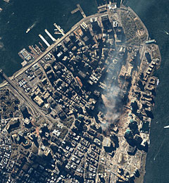 Lower Manhattan on September 15, 2001.