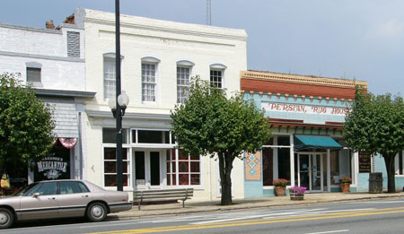 Pineville downtown
