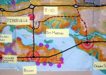 Coastline detail.