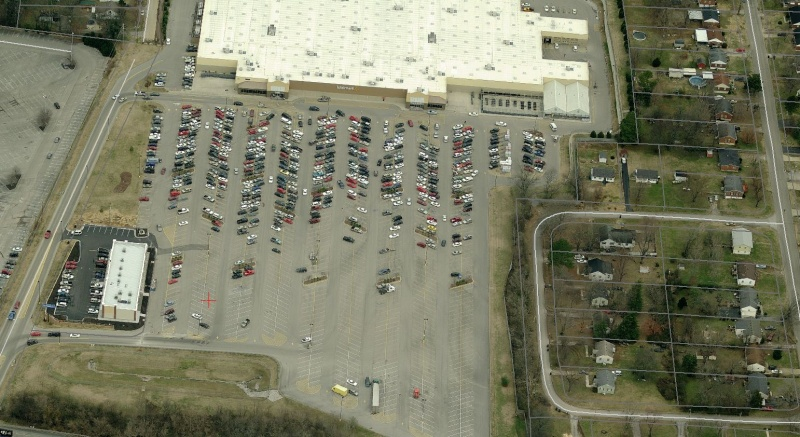 This is the town's Wal-Mart. Its value per acre is $658,191 and its FAR is 0.2.