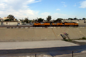 Waterway and freight train