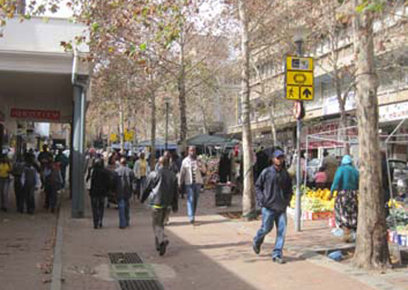 Pedestrianized area on Kerk Street, Johannesburg CBD