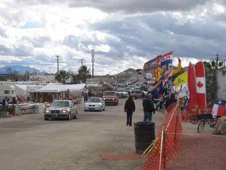 Rock and mineral sellers fill Quartzsite's swap meet areas during the wintertime.