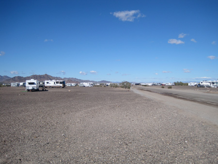 The BLM's La Posa Long Term Visitor Area.