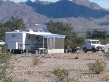 Some RVers camp farther out into the desert, but the LTVA has a very social community.