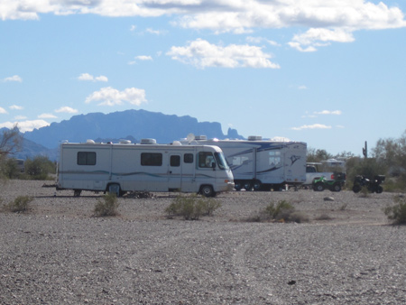 Campsites range from the decrepit to the million-dollar in Quartzsite.