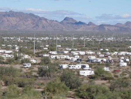 RVS in and around Quartzsite, AZ