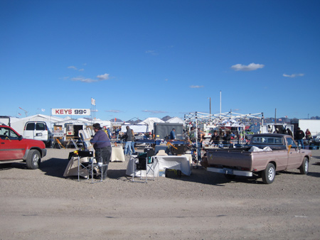The thriving swap meets of Quartzsite return year after year, as do the RVers who flood the town's surrounds.