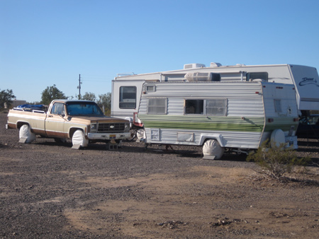 A typical camp setup at La Posa LTVA.