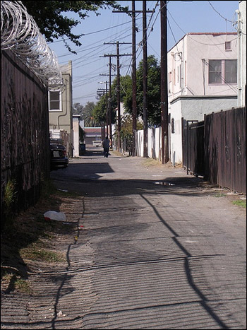 A Los Angeles alleyway.