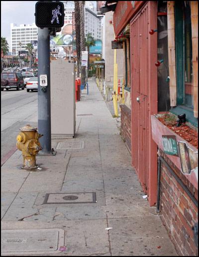 Sidewalk in Los Angeles