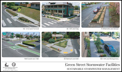 Green Streets Stormwater Facilities Poster from the City of Portland