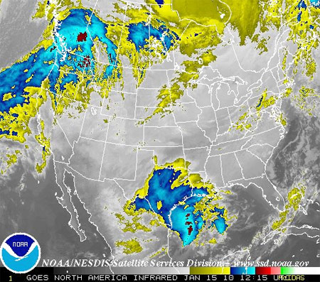 NOAA satellite imagery