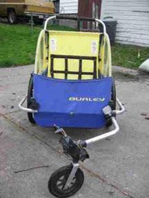 The Burley stroller.