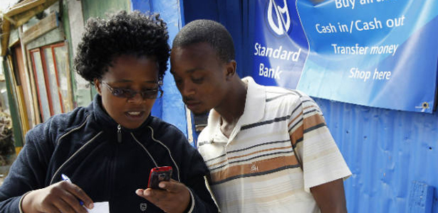 A client uses SAfrica Standard Bank