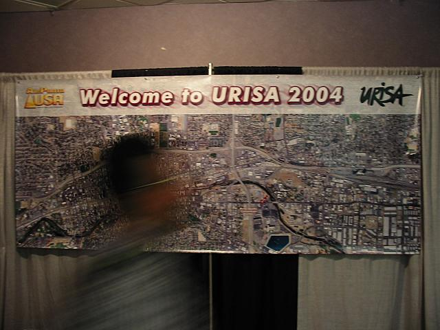 Banner at entrance of conference exhibition hall