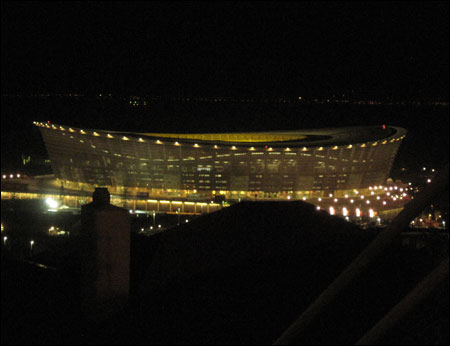 Green Point Stadium in Cape Town, South Africa