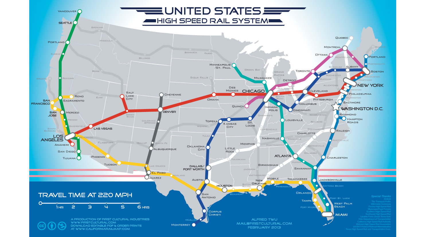 A Speculative Map Makes the Case for Americas Dream Rail System
