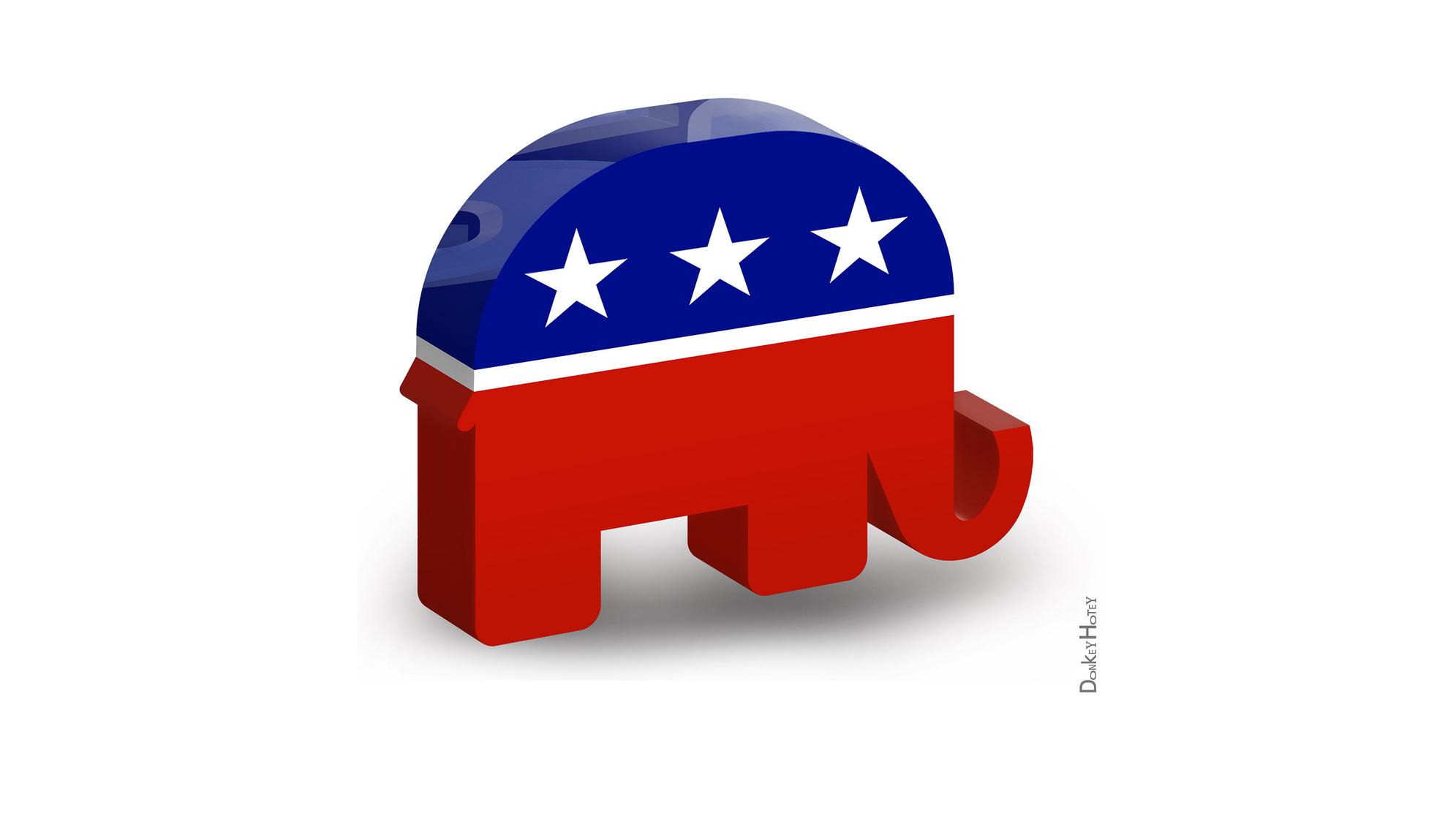 Republican Conservative Logo Republican Attacks Shi...