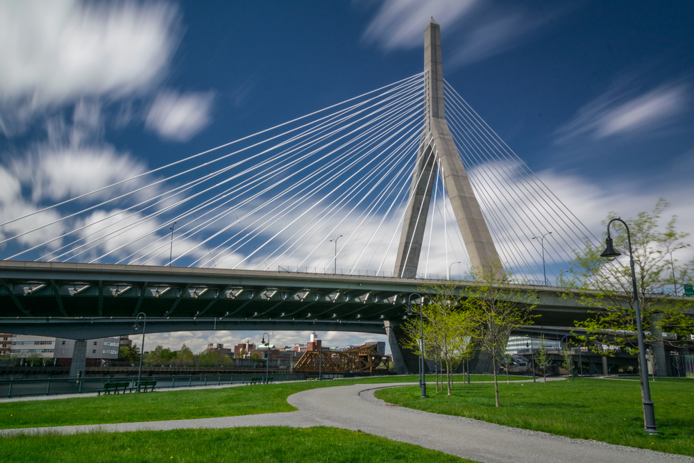 rendering of modern suspension bridge - link to Planetizen article