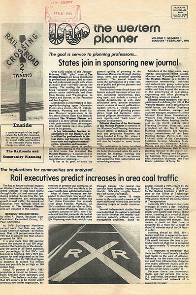 First issue of The Western Planner 1980
