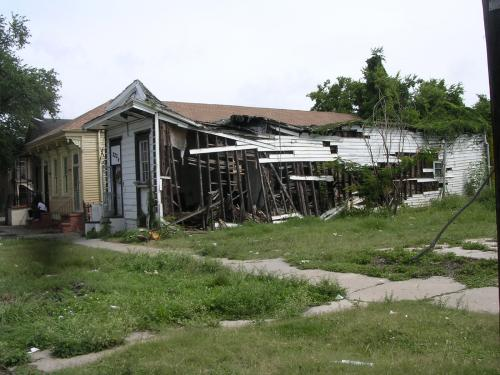 New Orleans Home Destroyed by Hurricane Katrina