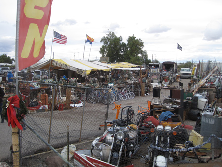 One of the many swapmeet and trinket shops within the town of Quartzsite.