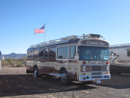 Vintage Blue Bird Wanderlodges like this are treasures in the RV community.