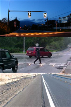 "Crosswalk technology, ""Rumble Strip"""